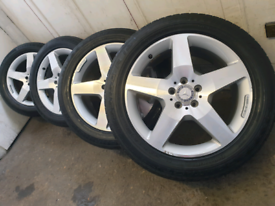 """19"""" Mercedes ML AMG ALLOY WHEELS AND continental tyres"""