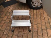 Caravan motorhome foldable double step