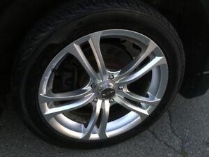 New tires on rims balanced wheels