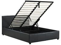 Single/Double/Kingsize Bed Frame with Hydraulic Gas Lift up Ottoman Storage- Brand New