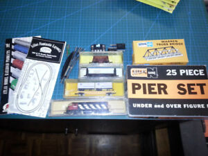 Various Model Train N-Scale Cars and Accessories - Atlas etc.