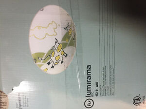 """2 New """"Cutsy"""" Cow ceiling light shades"""