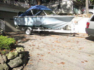16 foot Fibreglass Boat with 90 HP Mercury Outboard motor