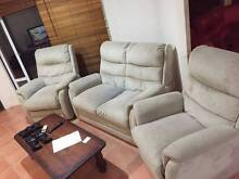 Suede Couch with 2 Recliners Good condition very comfy Pacific Pines Gold Coast City Preview