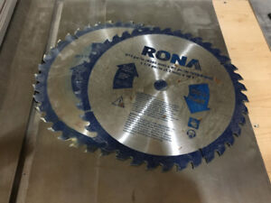 """(2) 12"""" 40 tooth Saw Blades. One new, one lightly used."""