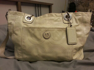 Alex Stitched Patent Leather COACH Baby Bag