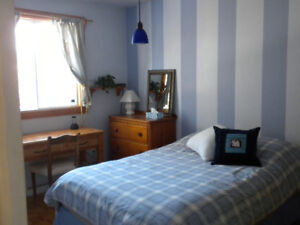 Chambre bien éclairée, 1er étage Rive Sud