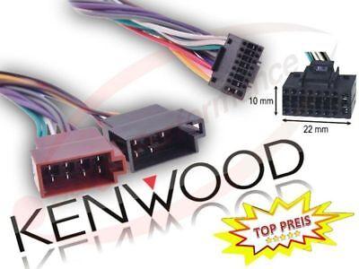 KENWOOD DDX KDC KRC Radioadapter Anschlusskabel mit 16Pin Stecker DPX Kenwood 16 Pin