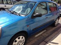 52 Plate Clio 1.2 5 dr. 54,000 Miles. 12 months Mot. Cheap Tax and Insurance.
