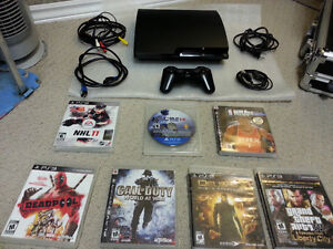 GREAT ADULT OWNED PS3 BUNDLE WITH LOTS OF GAMES & 80+ MOVIES : )