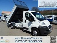 2008 08 CITROEN RELAY MWB 120BHP TIPPER WITH TAIL LIFT ONLY 55K