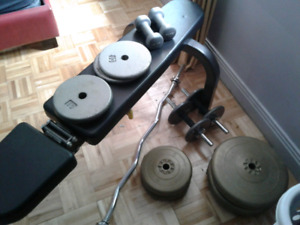 Weight Bench - set of weights included