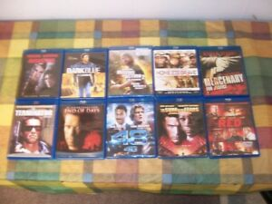 10 ASSORTED BLURAY MOVIES                    FOR SALE