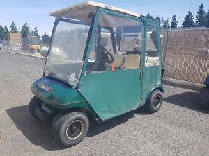 1997 Club Car DS Golf Cart with Enclosure