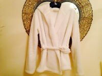 Marks & Spencer shirt white fluffy dressing gown