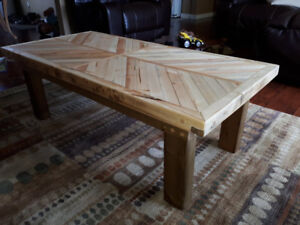 Beautiful hand crafted reclaimed solid wood coffee/table.