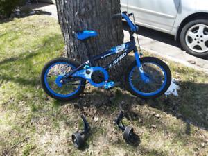 Kids bike 16 inch wheels with training wheels