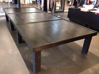 Extra large display table fixture for retail stores