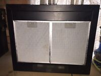 5 ring gas hob and extractor chimney shape both black good condition