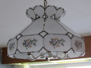 Country Style Milk Glass Kitchen Light Fixture