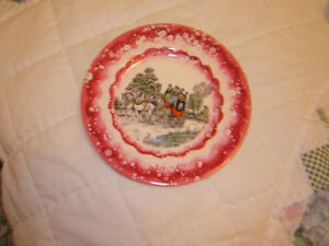 CHINA HAND-PAINTED  WATER-OILED PLATE OLD