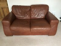 Barker & Stonehouse Sofaitalia Leather Sofas x2