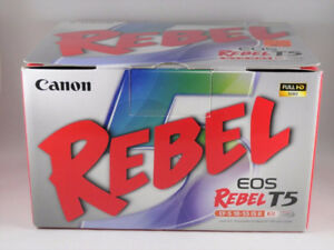 NEW Canon EOS Rebel T5 18MP DSLR Camera EF-S 18-55mm IS II Lens