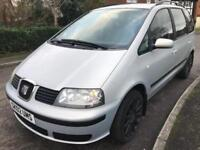 SEAT ALHAMBRA (2002) 1.9 TURBO DIESEL 7 SEATER LOW MILEAGE