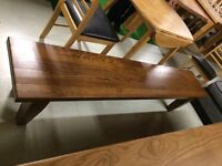 Solid oak bench new