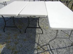 Table pliante pique nique patio Lifetime,6-8 p.Bibliothèque bois