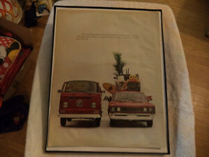 old vw bus classic car framed ads Windsor Region Ontario image 3