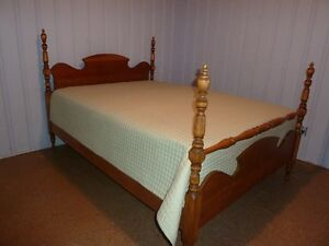 double wood bedframe