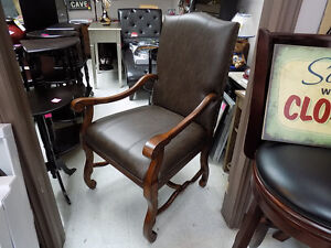 Chair Large Wood and Leather (4) $ 395.00 ea. Call 727-5344 St. John's Newfoundland image 1