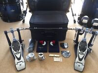 Pearl Eliminator P2002B Double Bass Drum Pedal With Case, Cams &Extras NOT P2002C Zildjian Mapex