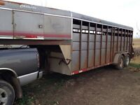 20 foot 5th wheel stock trailer