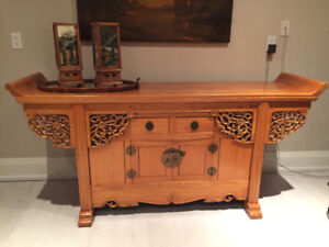 Gorgeous Antique Chinese Elmwood Altar Coffer