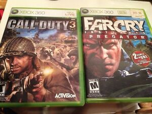 Call of duty 3, far cry instincts predator, Xbox 360 games London Ontario image 1