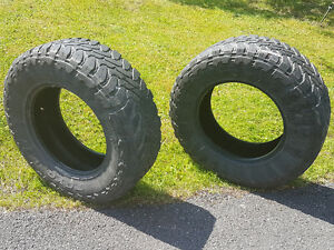 """2 spare 275/70/18"""" open country m/t truck tires"""