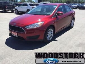 2015 Ford Focus SE  CPO, RUBY RED, 6 SPEED AUTO