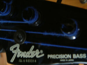 Basse Fender Précision made in japan  1984-1987