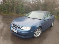 SAAB 93 LINEAR 1.9 TDI BLUE 2 DOOR CONVERTIBLE DIESEL MANUAL 2006