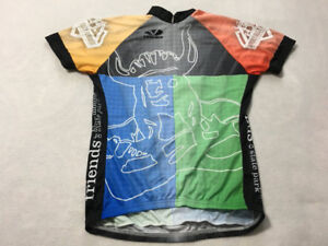 Voler Womens L Large Horribly Hilly Hundreds Viking Rainbow Cycling Jersey WI