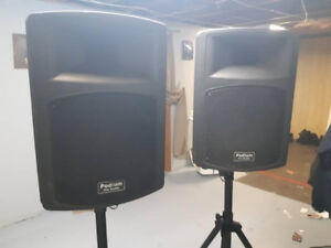 PA Speakers and Stands