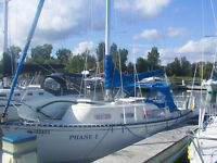 1973 26ft Grampian sailboat/voilier  $5,500