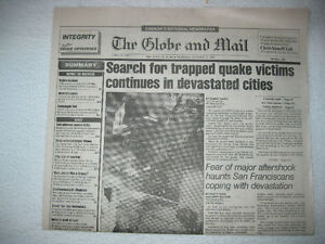 HISTORIC NEWSPAPERS  SF Quake