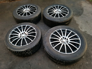 Set of 4 17 rims with tires for sale 5 bolt patterns