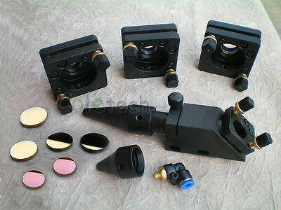 Set of CO2  Laser Head / Mirror and Lens Integrative  Mount Engraver Cutter