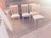 4 dining table chairs free delivery in bristol