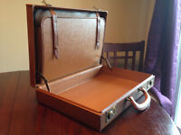 Vintage Brown Leather Briefcase