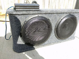 """JL audio 12"""" subwoofers in non-ported box Phoenix gold amp"""